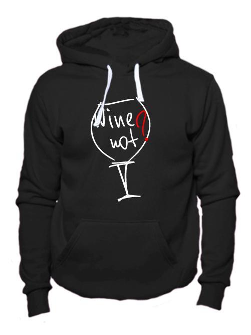 Толстовка Wine not черная