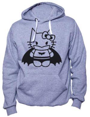 Толстовка Hello kitty batman серый меланж