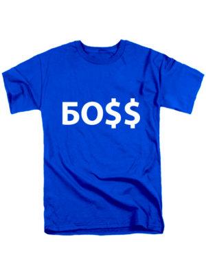 Футболка Боss синяя