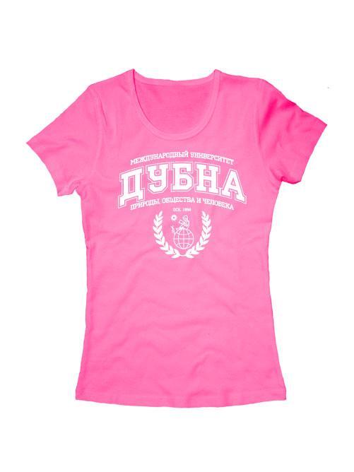 Футболка ГУ Дубна женская розовая