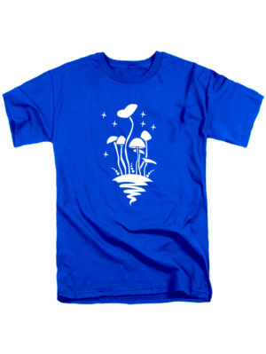 Футболка Грибы синяя