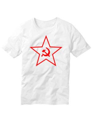 Футболка Звезда СССР белая