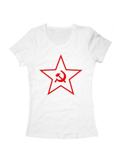 Футболка Звезда СССР женская белая