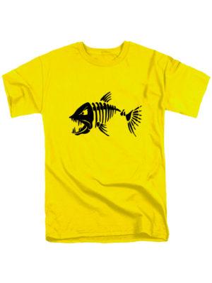 Футболка Злая рыба желтая