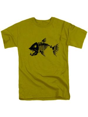 Футболка Злая рыба оливковая
