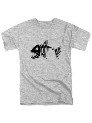 Футболка Злая рыба серая