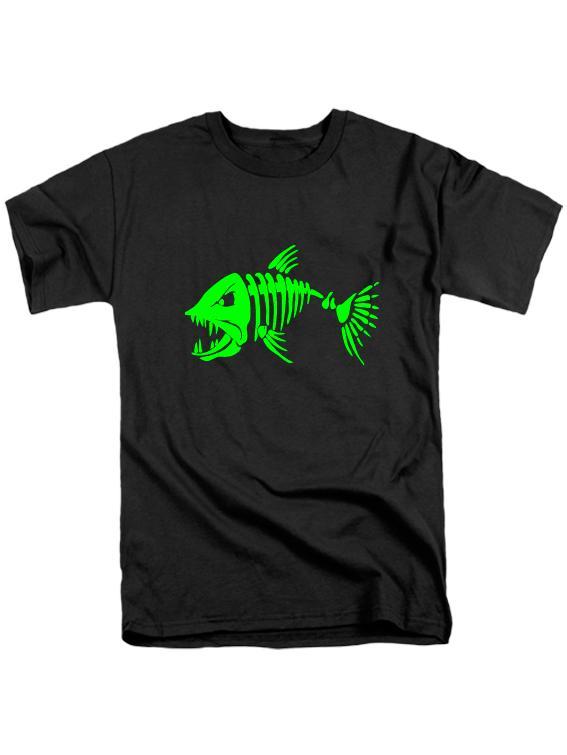 Футболка Злая рыба черная