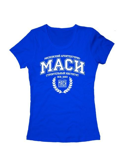 Футболка Институт МАСИ женская синяя