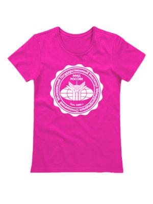 Футболка Институт МГИМО женская розовая