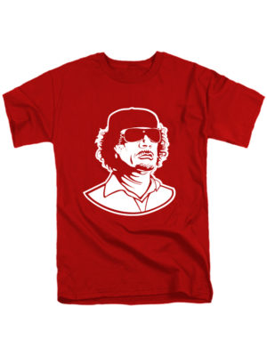 Футболка Каддафи красная