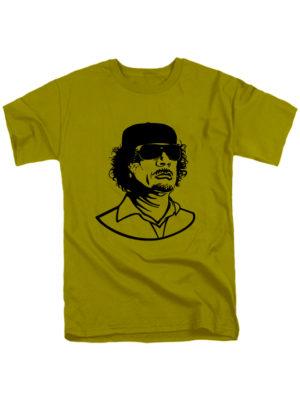 Футболка Каддафи оливковая