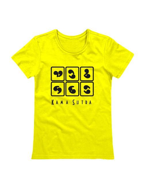 Футболка Камасутра женская желтая