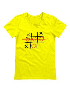 Футболка Крестики нолики желтая