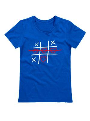 Футболка Крестики нолики синяя
