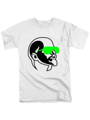 Футболка Ленин в очках белая