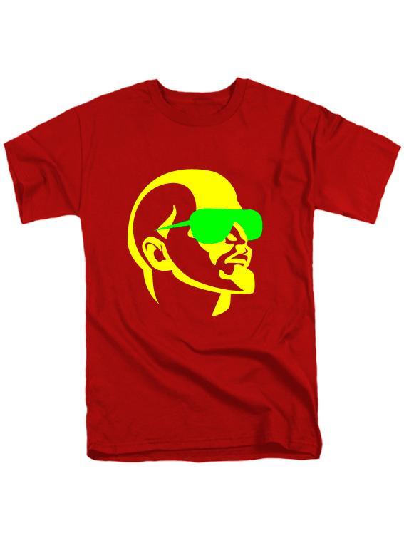Футболка Ленин в очках красная