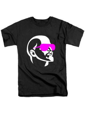 Футболка Ленин в очках черная