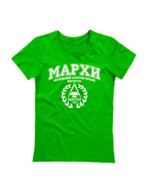 Футболка МАРХИ женская зеленая