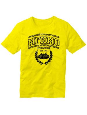 Футболка МГИМО мужская желтая