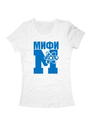 Футболка МИФИ женская белая