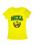 Футболка МСХА женская желтая