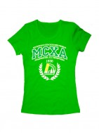 Футболка МСХА женская зеленая