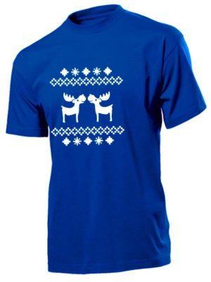 Футболка Олени мужская синяя