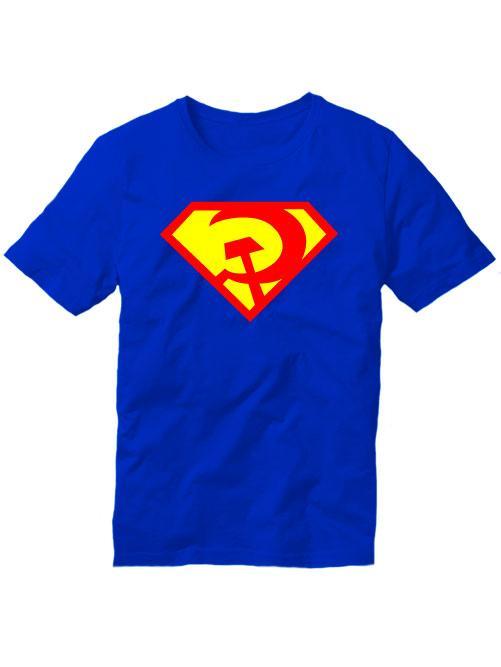 Футболка Руский супермен синяя
