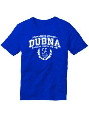 Футболка Университет Дубна синяя