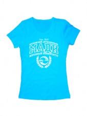 Футболка Университет МАДИ женская голубая