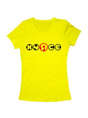 Футболка Хуясе женская желтая