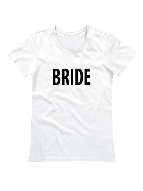 Футболка для невесты Bride белая