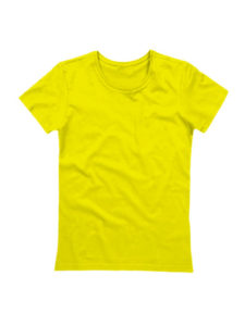 Футболка женская ХБ желтая