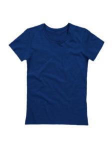 Футболка женская ХБ темно-синяя