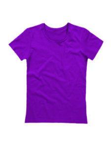 Футболка женская ХБ фиолетовая