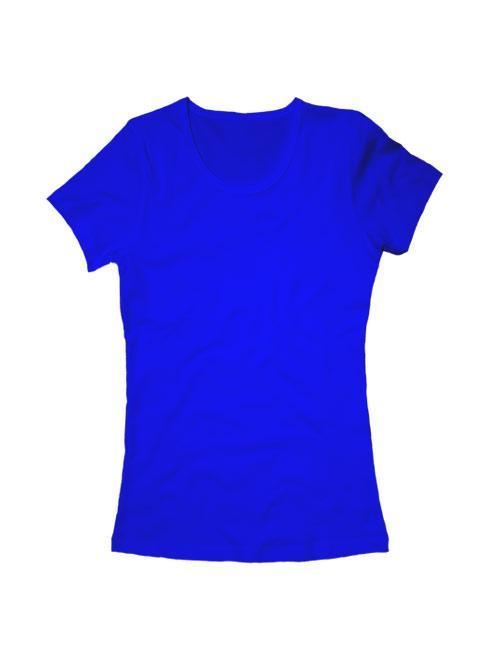 Футболка женская синяя