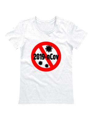 Футболка женская 2019-nCov белая