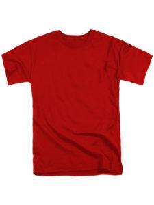 футболка мужская красная