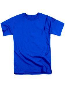 Футболка мужская ХБ синяя