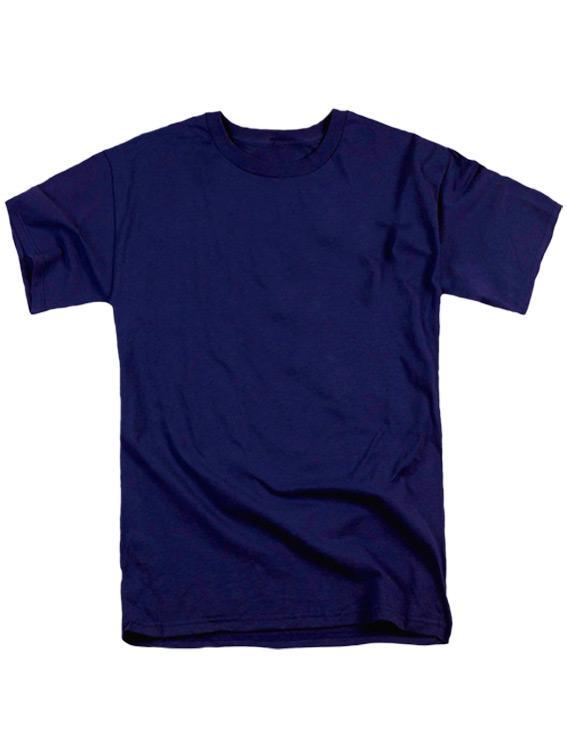 Футболка мужская ХБ темно-синяя