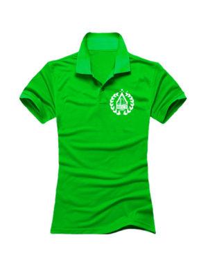 Футболка поло МГСУ женская зеленая