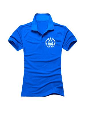 Футболка поло МГСУ женская синяя