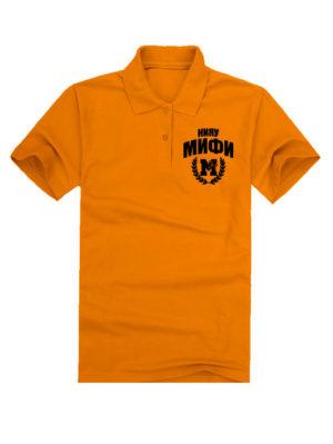 Футболка поло МИФИ оранжевая