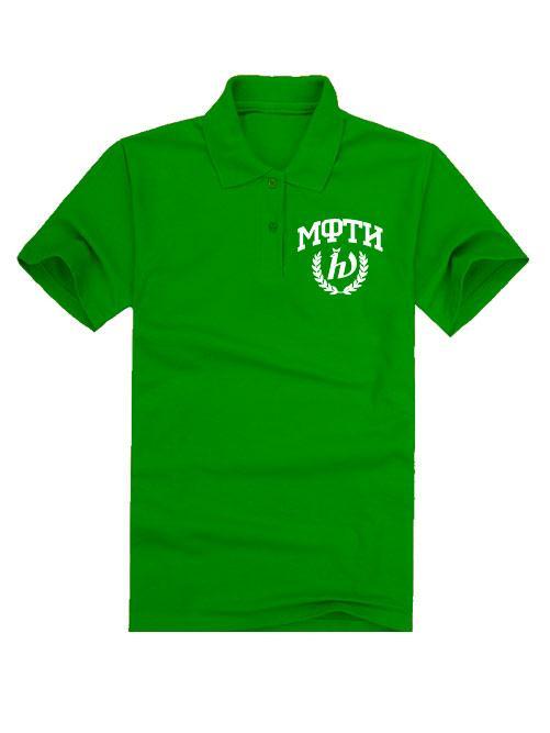 Футболка поло МФТИ зеленая