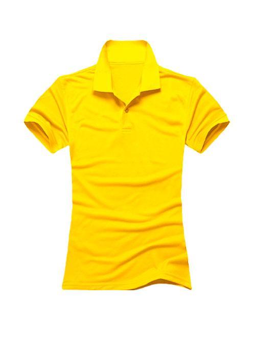 Футболка поло женская желтая