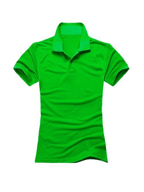 Футболка поло женская зеленая