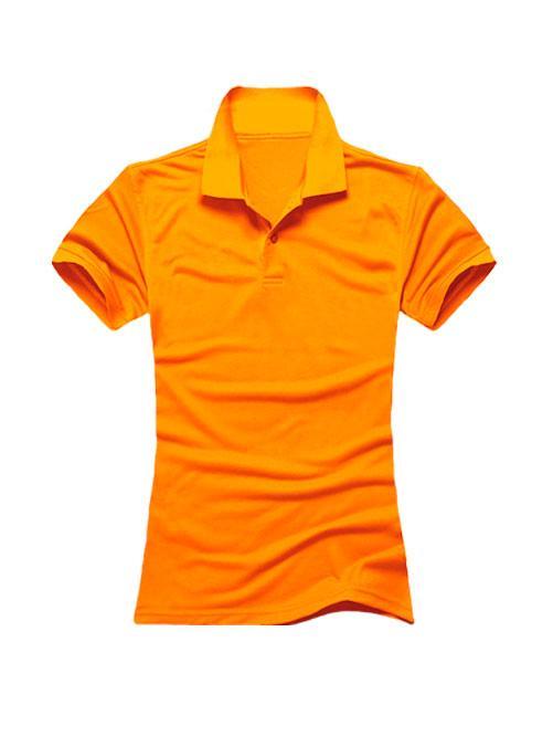 Футболка поло женская оранжевая