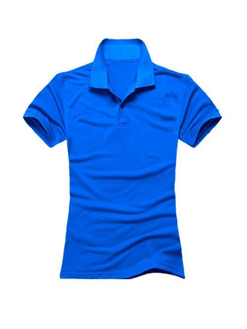 Футболка поло женская синяя