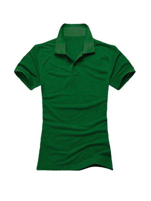 Футболка поло женская темно зеленая