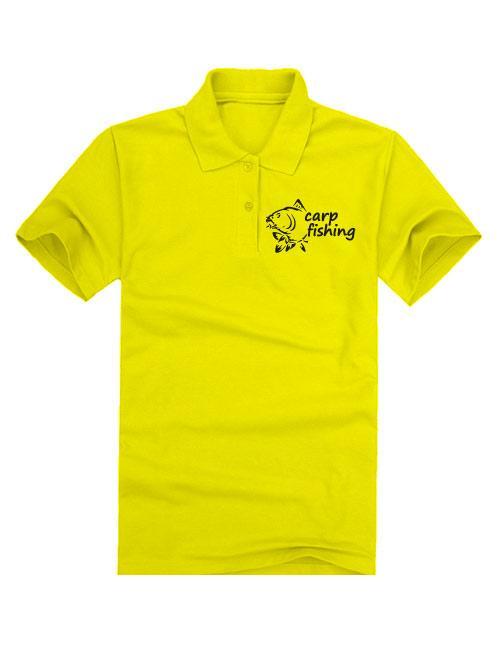 Футболка поло Carp fihing 2 желтая